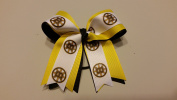 Boston Hockey Hair Bow