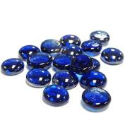 CYS Vase Filler Gem Glass Confetti, Table Scatters, Cobalt Blue, 0.5kg bag. Approximately 120 pcs