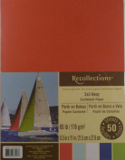 Recollections Sail Away Cardstock Paper, 22cm X 28cm - 50 Sheets, 5 Colours