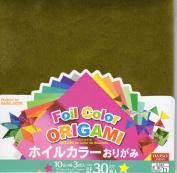 Foil colour Origami - 10 Colour 30 sheets