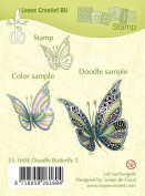 Joy Craft Doodle Clear Stamp Butterfly 2