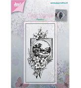 Joy Craft Clear Stamp-Flowers with Picture Frame