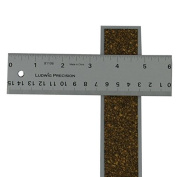 Alumicolor Ludwig Precision 15cm Cork Backed Aluminium Straight Edge