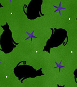 Cat Fabric - Ghouls Night Out - Halloween - 100% Cotton - By the Yard