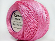 Pink Mimosa Size 10 Microfiber Crochet Thread - 50 Gramme