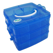 EnviUs SnapCube - Snap & Stackable Storage Case for Rainbow Loom + Arts & Crafts