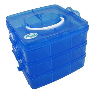 EnviUs SnapCube - Snap & Stackable Storage Case for Rainbow Loom + Arts & Crafts (Mini, Blue)