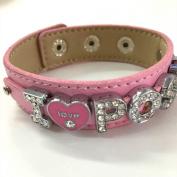 I LOVE POSH inspired rhinestone bracelet