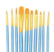 Paint Brushes, StarVast 10pcs Paint Brush Set | Painting Brushes for Watercolour, Oil, Acrylic, Gouache, Plein Air /Crafts, Miniatures, Models, Rock, Art / Hobbies, Nail, Face Painting