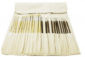 Solabela® Artist Brushes. Set of 24 w/ Canvas Roll-up Pouch - Montreal
