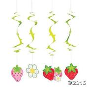 . Paper Berry 1st Birthday Hanging Swirls