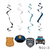 . Paper Police Party Hanging Swirls