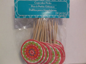 24 Piece Cupcake Picks *Colourful*