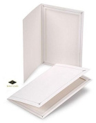 BETTER CRAFTS Cardboard Photo Folder 5x7 - Pack of 10 White