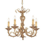 Crystorama Etta Collection 5-light Olde Brass Mini Chandelier