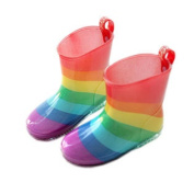 Cute Baby Rainy Day Infant Rain Shoes Toddler Rain Boot colourful Rainbow