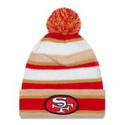San Francisco 49ers New Era NFL Super Bowl XXIV Logo Striped Sport Knit Hat