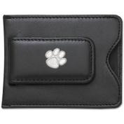 NCAA Logo Black Leather Money Clip / Credit Card Holder - NCAA Team