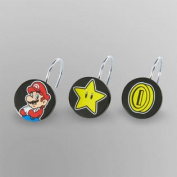 12pc Nintendo Super Mario Shower Curtain Rings Simply the Best Bathroom Accessories