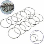 UR Bathroom 12Pcs Stainless Steel Circle Shower Curtain Hook Bath Curtain Glide Hanger