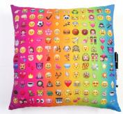 Multi Emoji Camp Autograph Pillow