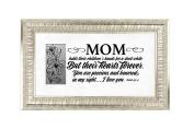 Mom I Love You Silver Finish 18x11 Wood Wall Art Frame
