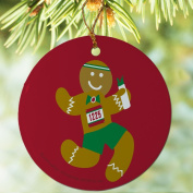 Running Porcelain Ornament Gingerbread Runner