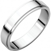 Palladium 04.00 MM Flat Edge Band