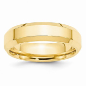 Perfect Jewellery Gift 14KY 6mm Bevel Edge Comfort Fit Band Size 14