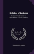 Syllabus of Lectures