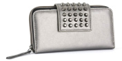 GG Rose By Rock Rebel Metallic Gunmetal With Studs Women's Wallet Organiser