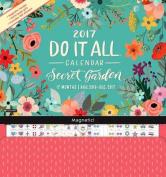 2017 Secret Garden Do It All Wall Calendar