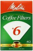 Melitta 626402 White #6 Cone Coffee Filters