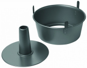 Chicago Metallic Non-Stick 2-Piece Angel Food Cake Pan with Feet