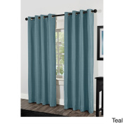 Shantung Thermal Insulated Grommet Top Curtain Panel Pair