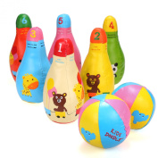 Arshiner Mini Synthetic 6 Pins Bowling Sets With 2 Balls Bowling Game for Kids