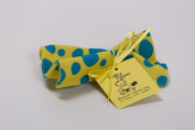 Baby Paper - Crinkly Baby Toy - Yellow w/ Blue Dots