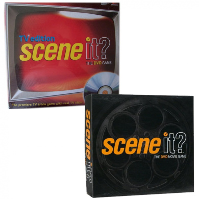 Scene It . TV Edition & The DVD Movie Game Gift Bundle