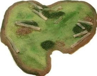 15mm Scale Wargames Terrain Rivers - Swamp (Finished/painted)