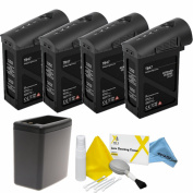 DJI Inspire 1 Black Edition Battery Bundle. Includes 4x TB47 Batteries (Black) + Battery Heater (Black) + eDigitalUSA Cleaning Kit