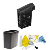DJI Inspire 1 Black Edition Battery Bundle. Includes TB47 Battery (Black) + Battery Heater (Black) + eDigitalUSA Cleaning Kit