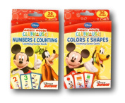 Mickey Mouse Clubhouse Learning Card Games Bundle - Numbers + Counting & Colours + Shapes
