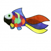 EMMAKTIES Colourful Fish Windsock Rainbow Spiral for Backyard Decoration Beach Wind Game Mark Flyer Swivel