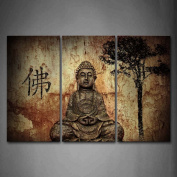 Wall art painting Religion Buddha In Grotto With Chinese Fo Wall Art Painting Pictures Print On Canvas Religion The Picture For Home Modern Decoration
