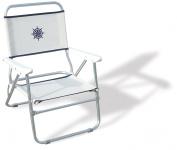 FORMA MARINE Beach Chair, Outdoor Chair, Folding, Anodized, Aluminium, White , Model 'Bikini' PA560A