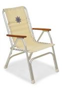 FORMA MARINE High Back Deck Chair, Boat Chair, Folding, Anodized, Aluminium, Off-White, Model M150W