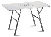 FORMA MARINE Deck Table, Double Height Positioning, Boat Table, Folding, Rectangular,Anodized, Aluminium, Model M600