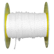 AMR100-18212.016 * 30m Aamstrand 0.6cm 8 Strand Hollow Braid Rope - White