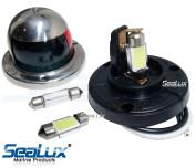 SeaLux Marine 180 deg 31mm Festoon 9 LEDs Cool White Navigation Bulbs for Masthead / Stern Light / Navigation Lights / Anchor Lamp