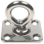 0.8cm Stainless Steel Pad Eye Square Swivel